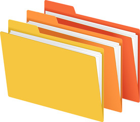 Bright Yellow Orange Red File Folder