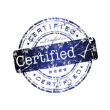Certified rubber stamp poster