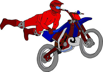 vector - moto freestyle isolated on background