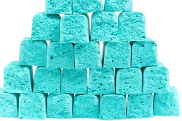 Pyramid from slices children's chalk