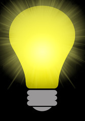 Yellow lightbulb