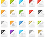 Squaro icon set: File extensions and Document icons poster
