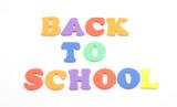 Back to School Foam Letters poster