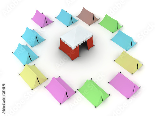 Colored Tents