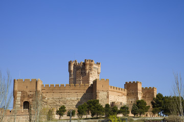 Mota's Castle in Medina del Campo, Valladolid, Spain