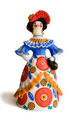 "A lady - russian traditional toy ""Dymkovskaya"""