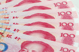 One hundred yuan notes poster