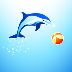 Dolphin playing with the ball