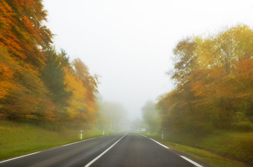 Fast Driving in Fog