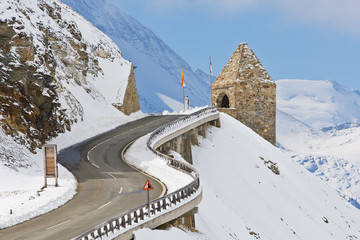 Monument in the Grossglockner, Austria