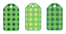 Etiquetas para regalos verdes