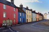 street in a fishing village in scotland