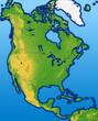 Terrain North America Map