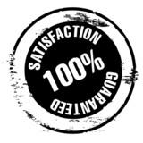 tampon qualité - satisfaction 100 % guaranteed - vecteur poster