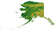 Terrain Map of Alaska