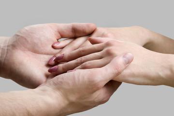 hands of men and women