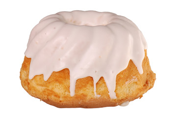 Delicious cake isolated on white background