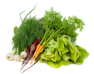 heap of new vegetables