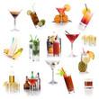 Cocktailkarte - viele verschiedene klassische Cocktails