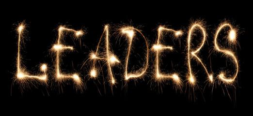 Word leaders written sparkler.