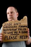 Begging Banker poster