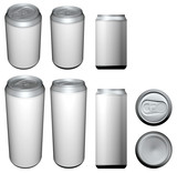 beverage can different views poster