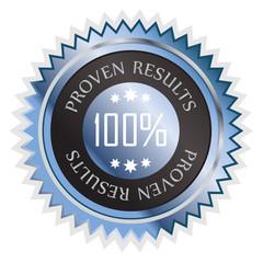 Proven results sticker