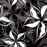 Vector. Seamless floral pattern
