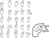 Fototapety Sign Language Alphabet