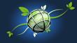 Environnement écologie 3D organique fond bleu