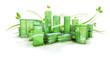 Ville verte écologique 3D vegétal