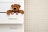 Fototapety teddy bear in closet
