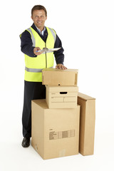 Courier Delivering Parcels