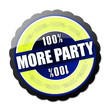 100% More Party Button