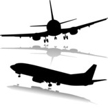 Fototapety airplane illustration vector silhouettes