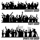 Fototapety set of group peoples vector