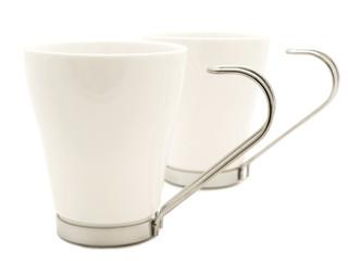 white modern cups