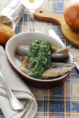 Filetti di trota con spinaci - Secondi di pesce