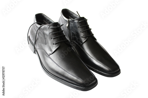 pair of leather shoes