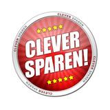 Button Clever Sparen poster