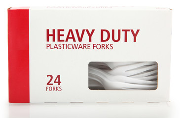 Box of Plastic Forks