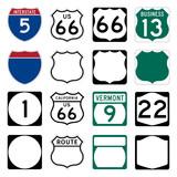 Interstate a americká cesta značek včetně slavné Route 66