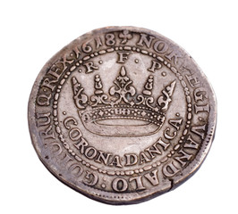 Danish silver coin from 1618