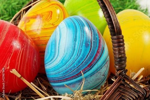 Eier bunt bemalt