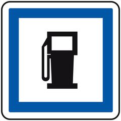 panneau pompe à essence