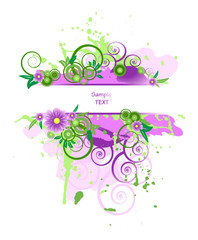 Abstract floral template with place for your text