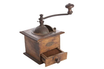 Old manual Coffee Grinder machine wooden made -4