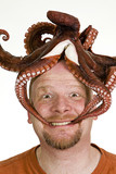 Bald Man with an Octopus on his head