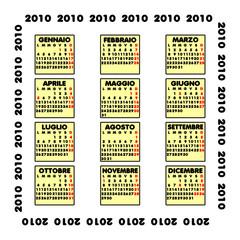 Calendario 2010 con festività italiane