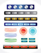 Set of buttons template for web and business artwork.